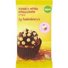 Sainsburys Cooks White Chocolate Chips 100g