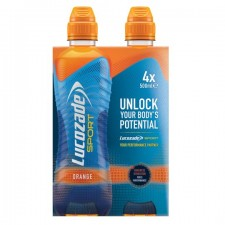 Lucozade Sport Orange 4 x 500ml Bottles