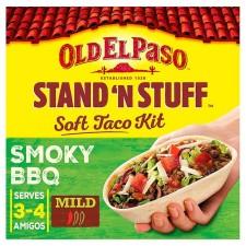 Old El Paso Stand N Stuff Soft Taco Kit Smokey BBQ 350g