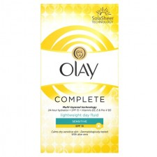 Olay Essentials Complete Care Moisturiser Fluid Sensitive SPF15 100ml