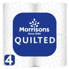 Morrisons Quilted Comfort Toilet Tissue 4 per pack