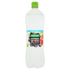 Sainsburys Sparkling  Blackcurrant and Cherry Flavoured Water No Added Sugar 1L Bottle