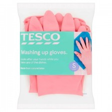 Tesco Dishwashing Rubber Gloves Small