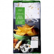 Marks and Spencer Full On Flavour Four Cheese and Onion Crisps 150g