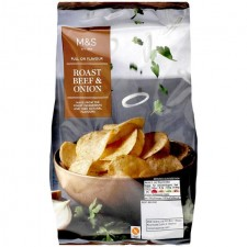 Marks and Spencer Full On Flavour Roast Beef and Onion Crisps 150g