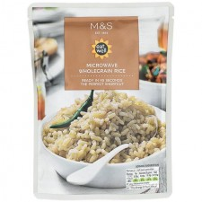 Marks and Spencer Microwaveable Wholegrain Rice 250g pouch