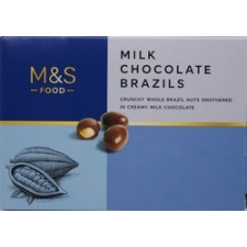 Marks and Spencer Milk Chocolate Brazils 150g
