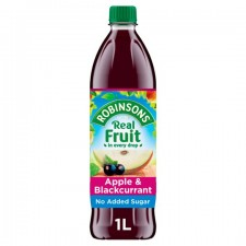 Robinsons No Added Sugar Apple and Blackcurrant Drink 1L