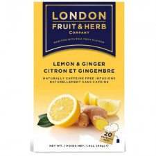 London Fruit and Herb Ginger and Lemon 20 Teabags Case of 12 Packs