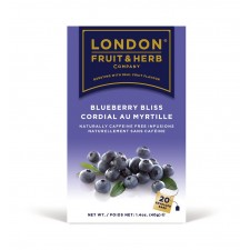 London Fruit and Herb Blueberry Bliss 20 Teabags Case of 12 Packs