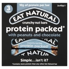 Eat Natural Protein Packed Crunchy Nut Bars 3 Pack