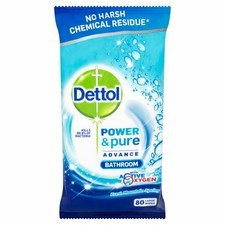 Dettol Power and Pure Bathroom Wipes 70 Pack