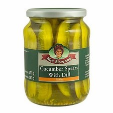Mrs Elswood Pickled Cucumber Spears with Dill 670g