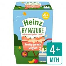 Heinz Dessert Pots 4 Month Fruity Peach Yogurt 2x100g