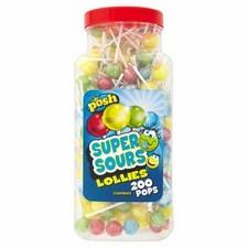 Posh 200 Super Sour Lollies Jar