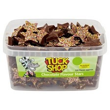 Tuck Shop Chocolate Flavour Stars 120 Pieces