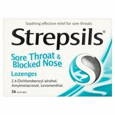 Strepsils Sore Throat And Blocked Nose 36