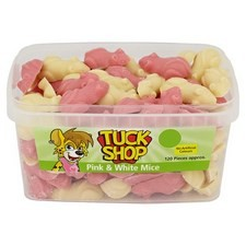 Tuck Shop Pink and White Mice 120 Pieces