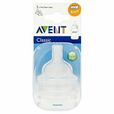 Avent Silicone Teats Fast Flow x2