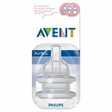 Avent Silicone Teats Variable Flow x2