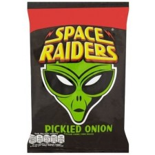 Space Raiders Pickled Onion Flavour Cosmic Corn and Wheat Snacks 36 x 25g