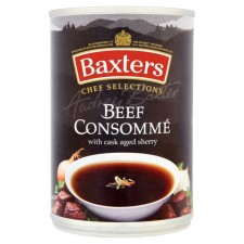 Baxters Chef Selections Beef Consomme Soup with Cask Aged Sherry 400g