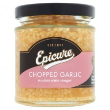 Epicure Chopped Garlic in White Wine Vinegar 180g