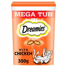Dreamies Mega Tub Cat Treats with Chicken 350g