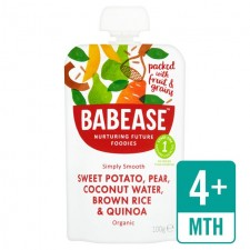 Babease Organic Sweet Potato and Pear Coconut Water Brown Rice and Quinoa 100g