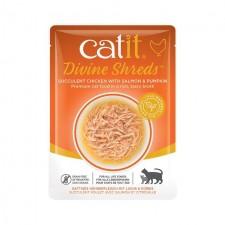Catit Divine Shreds Chicken with Salmon Wet Cat Food 75g
