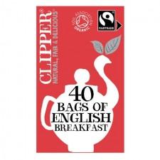Clipper Organic English Breakfast Tea 40 Teabags
