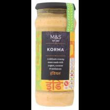 Marks and Spencer Korma Sauce 340g jar