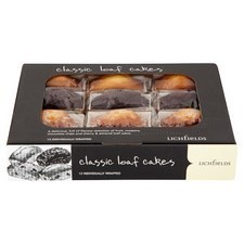 Catering Pack Lichfields Classic Assorted Mini Loaf Cakes x12 Individually Wrapped