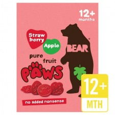 Bear Fruit Paws Strawberry and Apple Flavour 5 X 20G