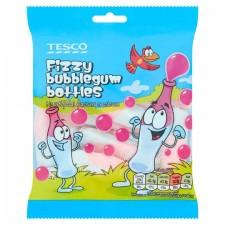 Tesco Fizzy Bubblegum Bottles 75g