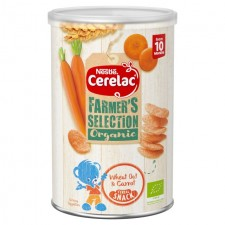 Nestle Cerelac Farmers Selection Organic Wheat Oat and Carrot Cereal Snack 35g