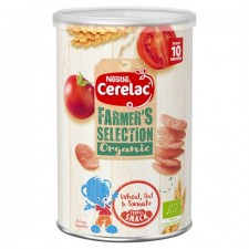 Nestle Cerelac Farmers Selection Organic Wheat Oat and Tomato Cereal Snack 35g