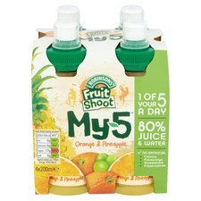 Robinsons Fruit Shoot My 5 Orange and Pineapple 4 x 200ml