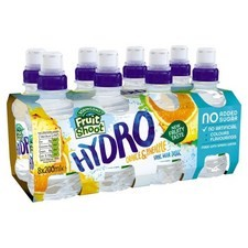 Robinsons Fruit Shoot Hydro No Added Sugar Orange and Pineapple 8 x 200ml