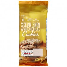 Marks and Spencer 8 Sicilian Lemon and White Chocolate Cookies 200g