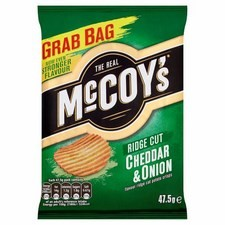 McCoys Cheddar And Onion Crisps 47.5g