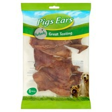 Bob Martin Naturally Pigs Ears Pieces 8 per pack