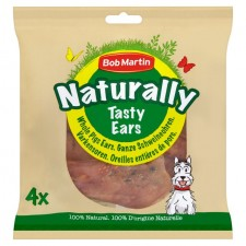 Bob Martin Naturally Pig Ears Pieces 4 per pack