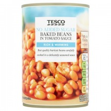 Tesco Baked Beans No Added Sugar 420g