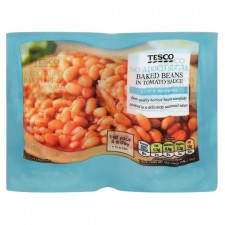 Tesco No Added Sugar Baked Beans In Tomato Sauce 4x420g
