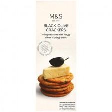 Marks and Spencer Black Olive Crackers 150g