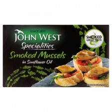 John West Smoked Mussels In Oil 85g