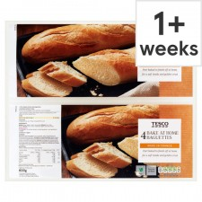 Tesco Bake at Home Baguettes 4 Pack