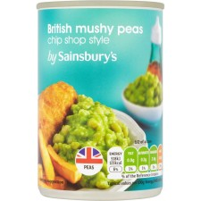 Sainsburys Chip Shop Style Mushy Peas 300g