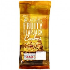 Marks and Spencer 8 All Butter Fruity Flapjack Cookies 200g